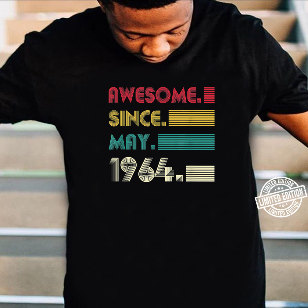 Awesome Since May 1964 57th Birthday 57Years Old Boy Shirt