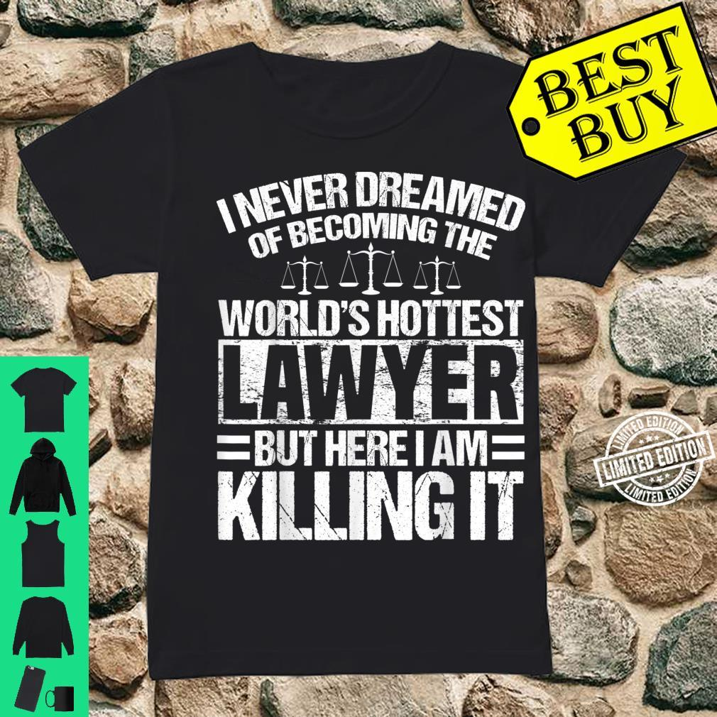 Funny Lawyer Apparel Best Lawyers Design Shirt ladies tee