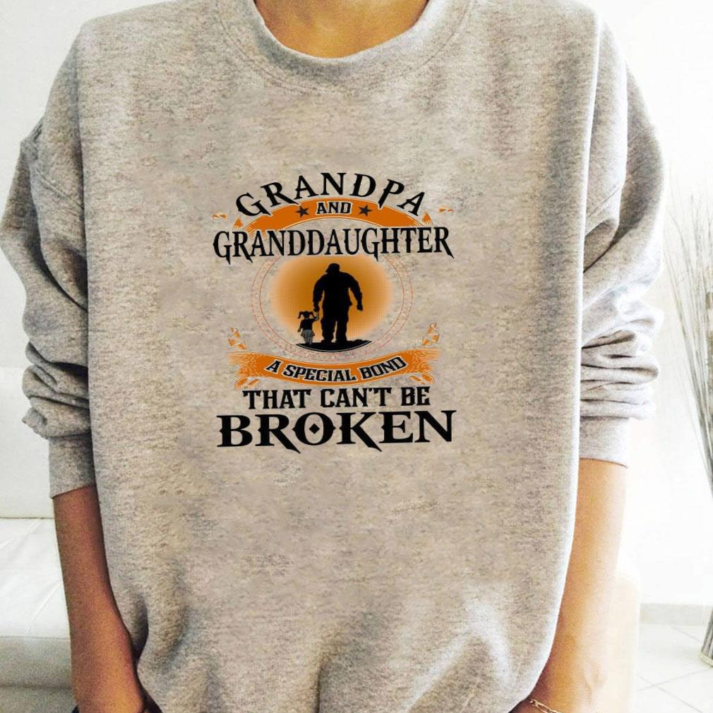Grandpa and granddaughter a special bond that can't be broken shirt long sleeved
