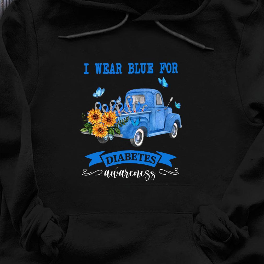 I wear blue for diabetes awareness shirt hoodie
