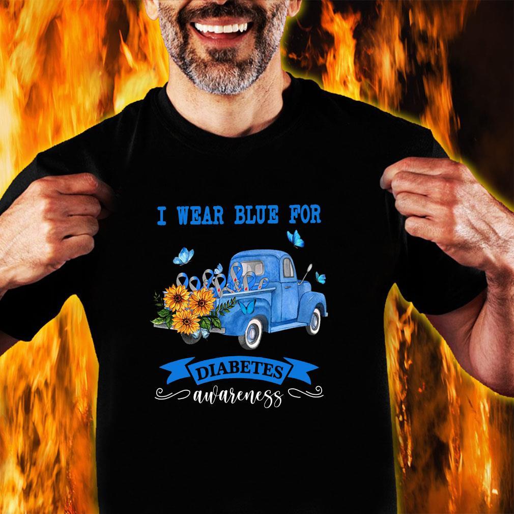 I wear blue for diabetes awareness shirt unisex