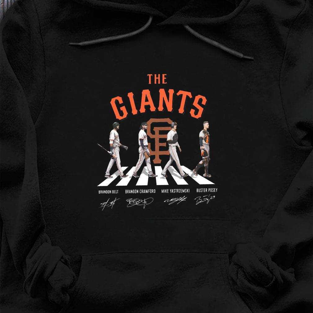The giants brandon belt brandon crawford mike yastrzemski buster posey shirt hoodie