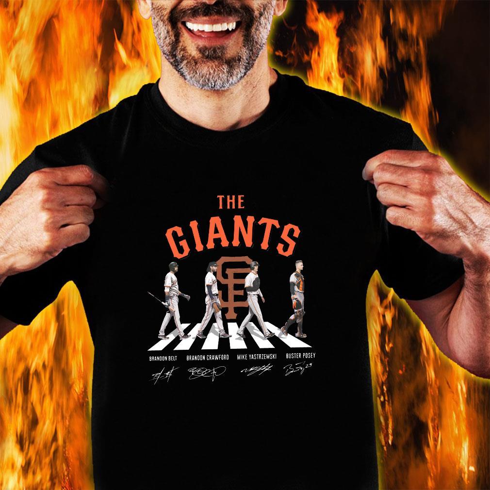The giants brandon belt brandon crawford mike yastrzemski buster posey shirt unisex