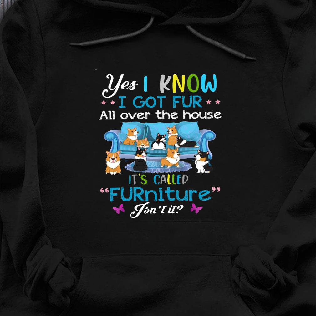 Yes i know i got fur all over the house it's called furniture isn't it shirt hoodie