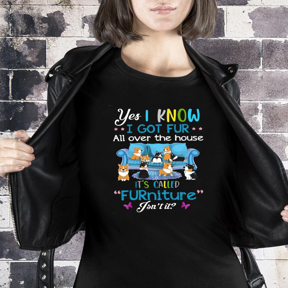 Yes i know i got fur all over the house it's called furniture isn't it shirt ladies tee