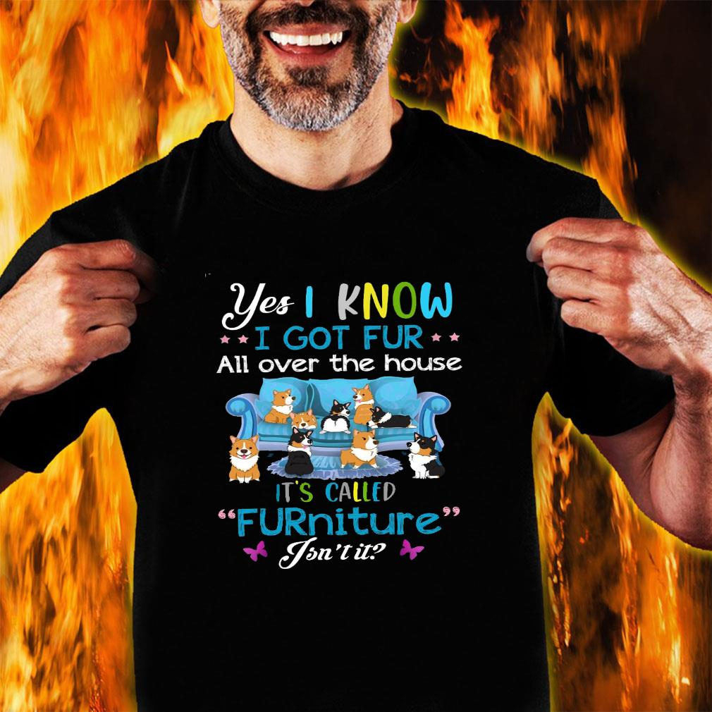 Yes i know i got fur all over the house it's called furniture isn't it shirt unisex