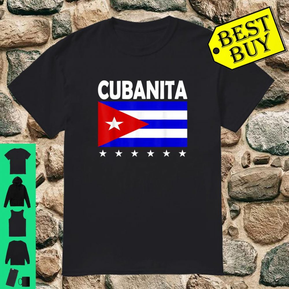 Cubanita Cuba Proud Cuban Flag Shirt