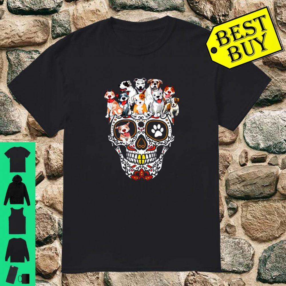 Cute Skull With Pitbull Girl Animal Shirt