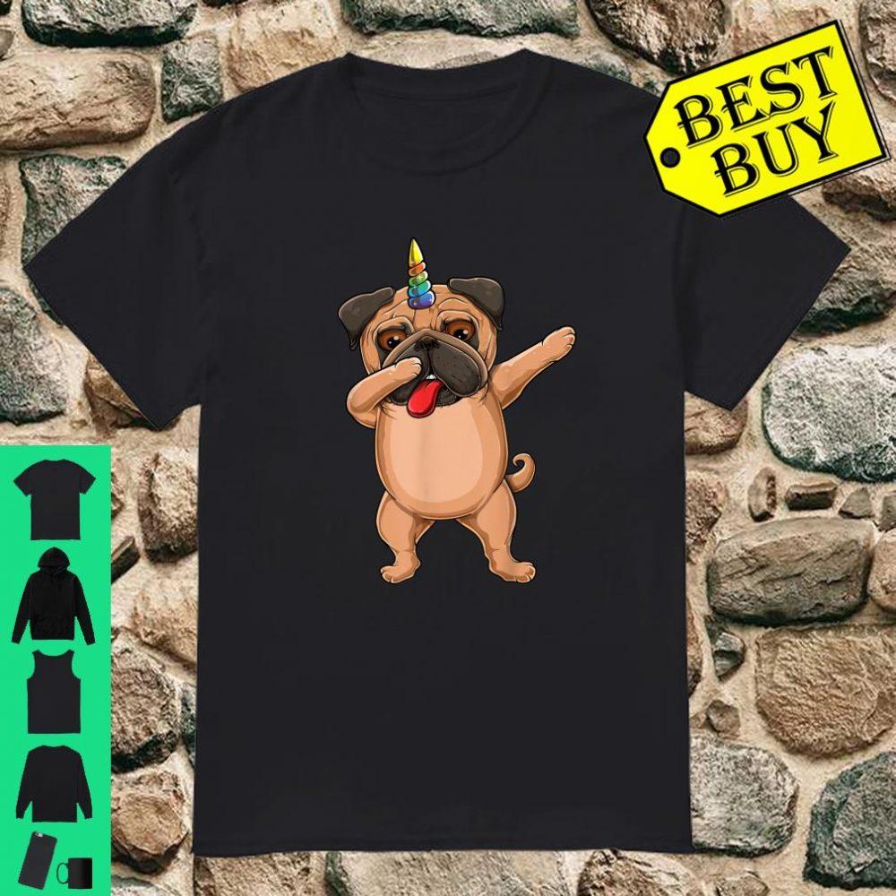 Dabbing Cute Pug dog unicorn Pet lover Dab dance shirt