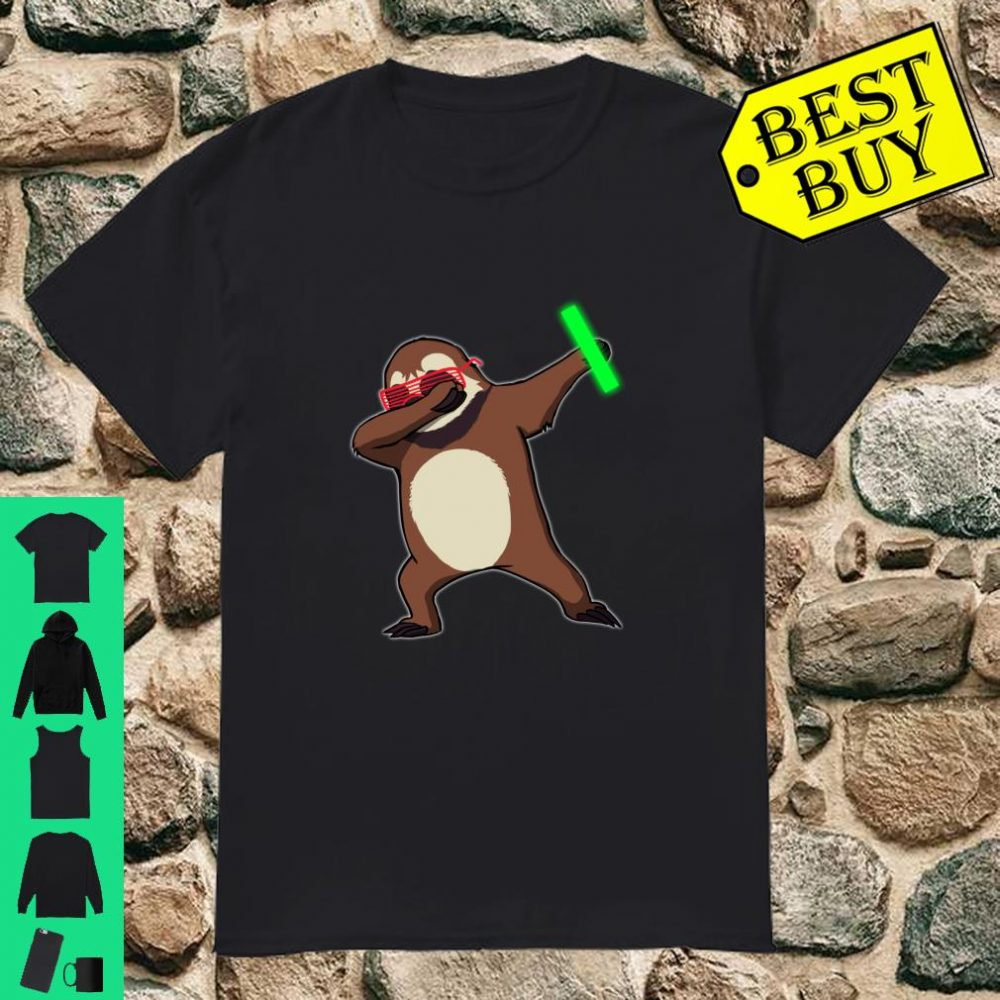 Dabbing Sloth Rave Dance Party Music Shirt