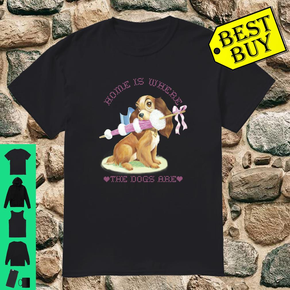 Disney Lady And The Tramp Lady Home Is Where The Dogs Are Sweatshirt