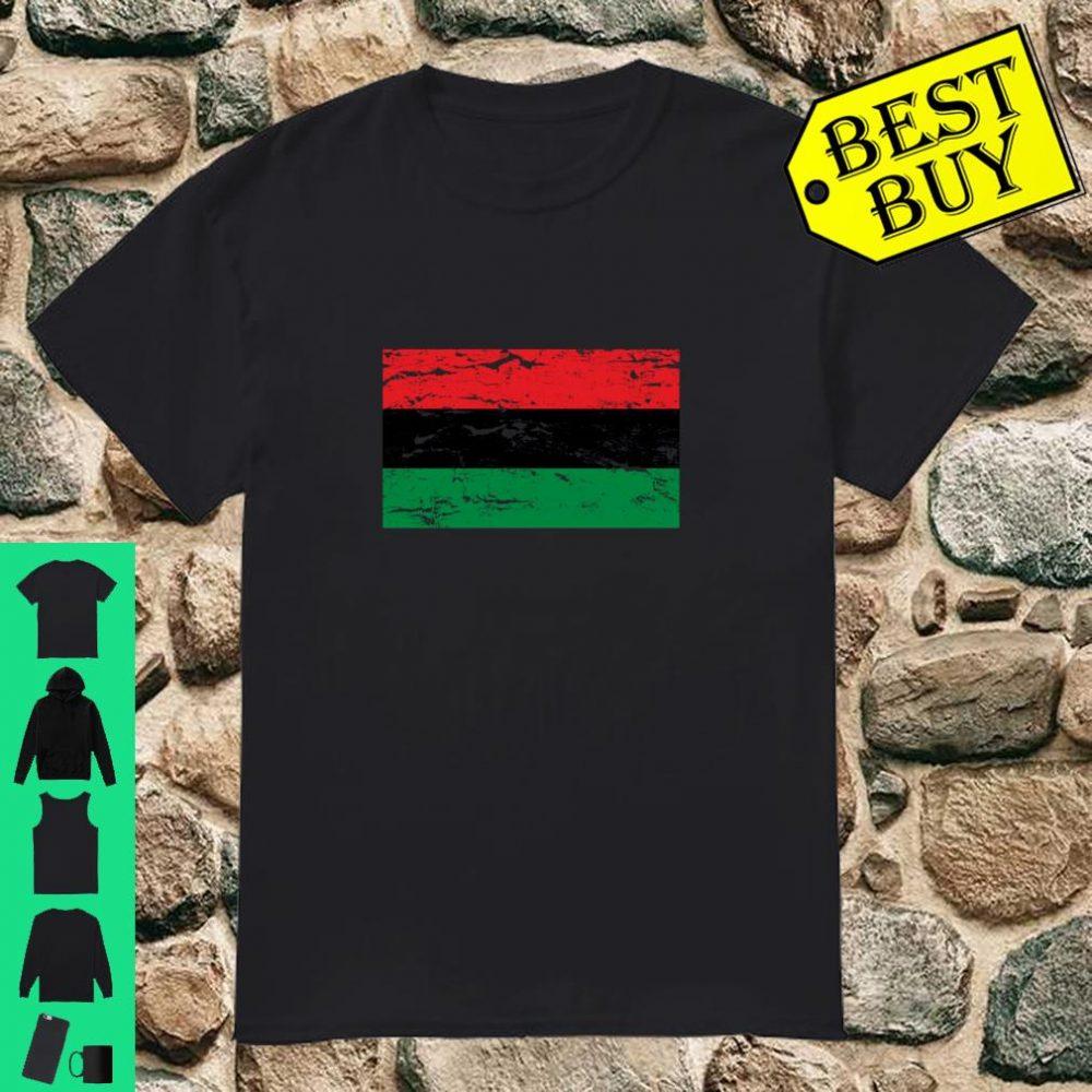 Distressed Pan African Flag shirt