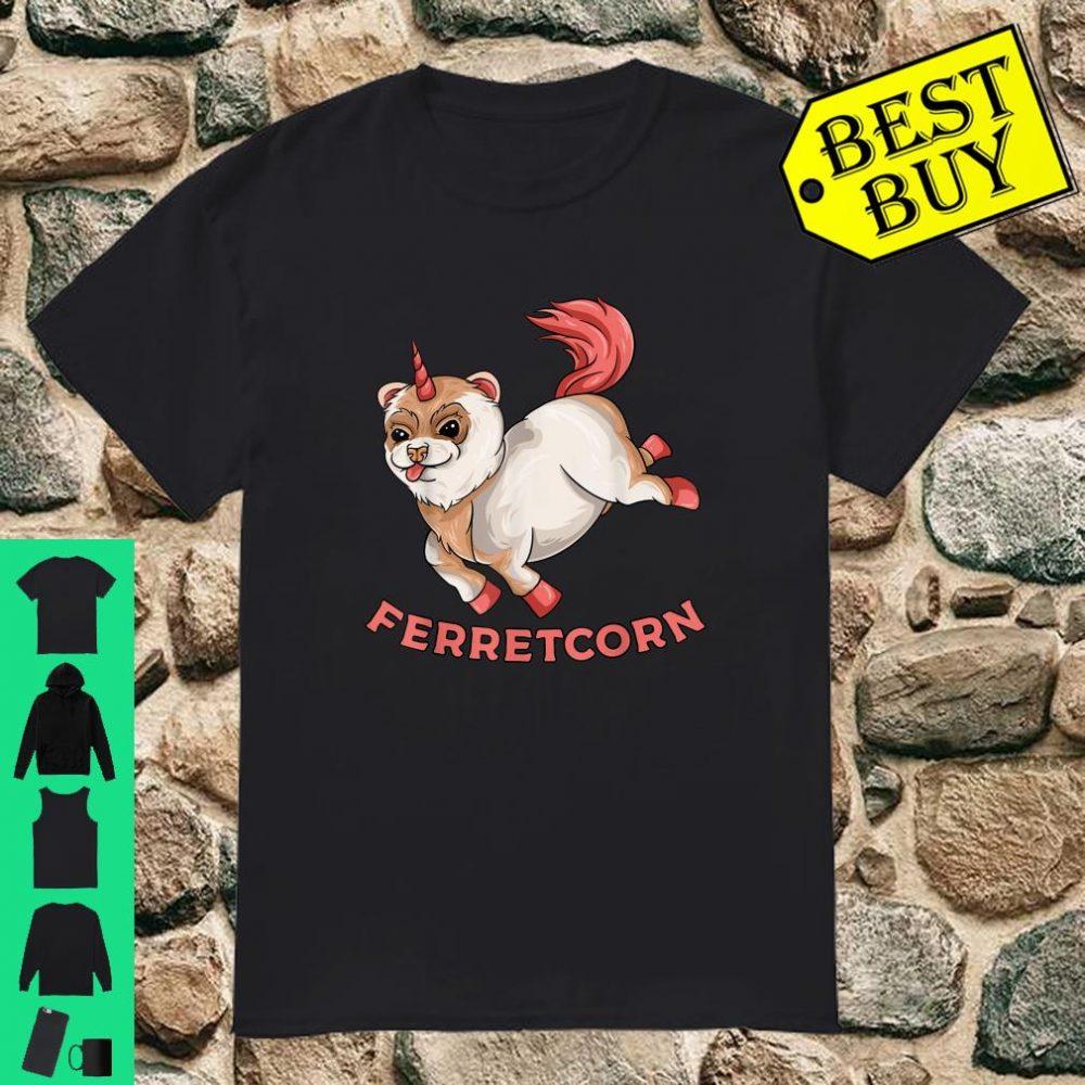 Ferretcorn Ferret Unicorn Flying Magical Rainbow Pet shirt