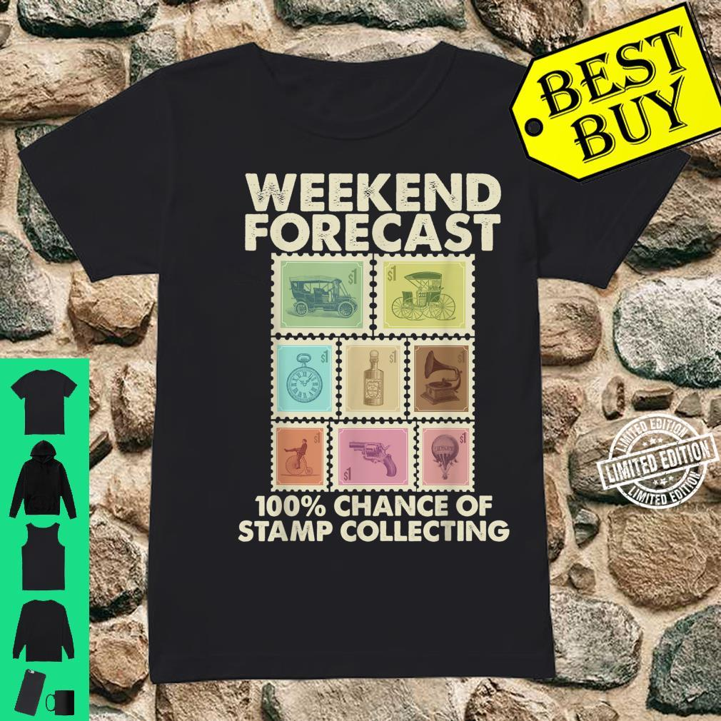 Funny Stamp Collecting Postal Collector Shirt ladies tee