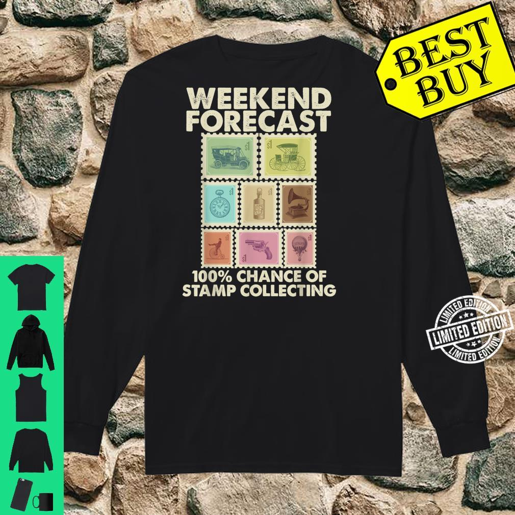 Funny Stamp Collecting Postal Collector Shirt long sleeved