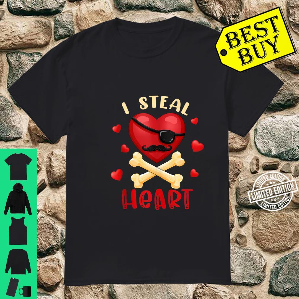 I Steal Heart Valentines day Heart Pirate Shirt