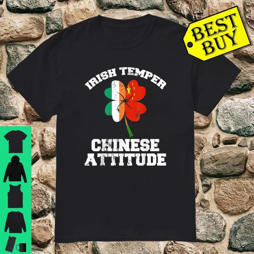 Irish Temper Chinese Attitude Shamrock St Patrick's Day shirt