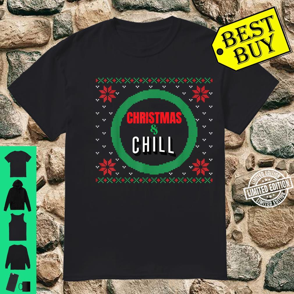 Ugly Christmas Christmas Chill Holiday Movie Santa Shirt