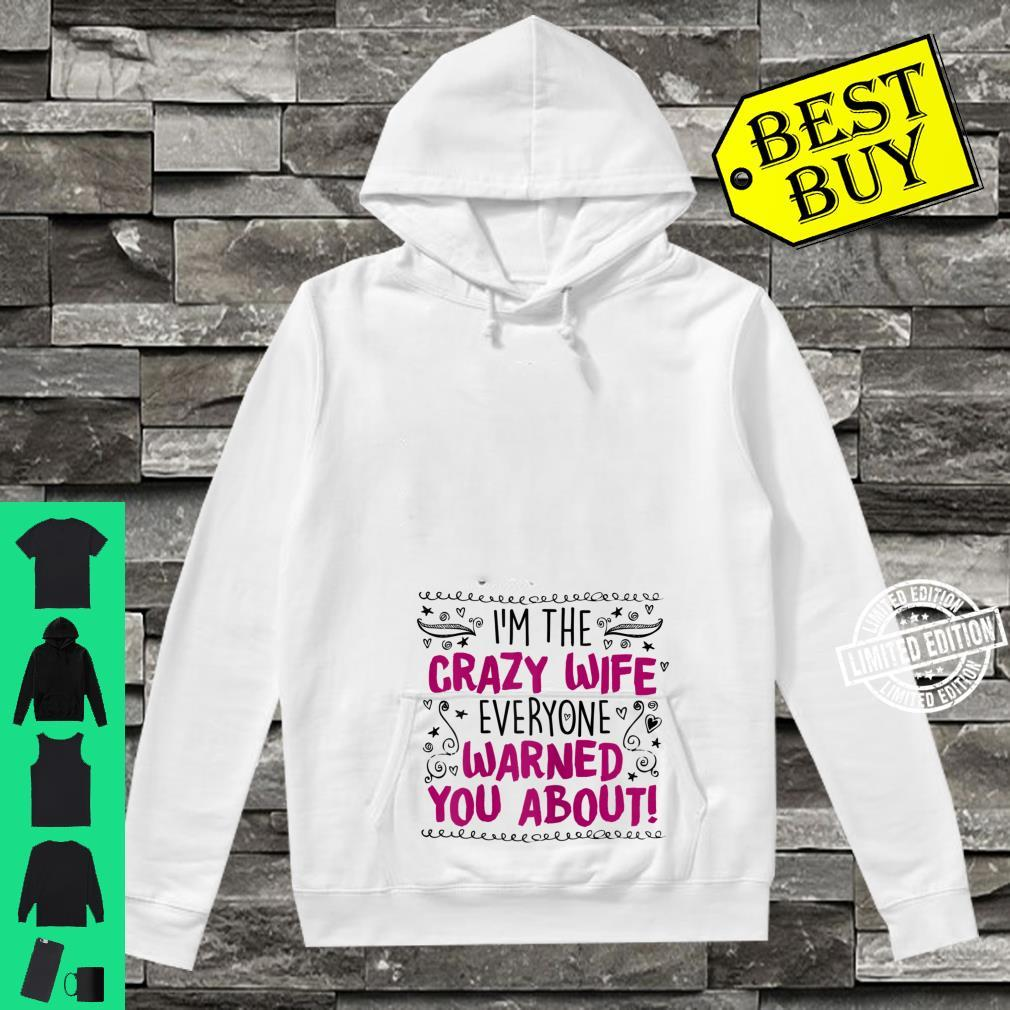 Womens Crazy Wife, Quote Cute Cool Casual Shirt hoodie